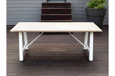 Table de jardin Delamaison Table de jardin en aluminium ocean | Darty