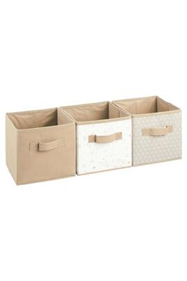 Atmosphera Kids 3 boîtes de rangement pour meuble kids - taupe