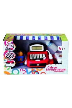 Jeux d'imitation Imagin Caisse enregistreuse pour enfant - accessoires de courses - rouge