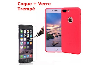 coque rouge en silicone iphone 8