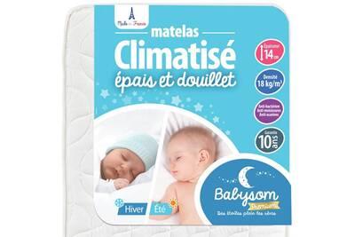 matelas b b babysom babysom matelas b b climatis et hiver 70x140cm epaisseur 14cm darty. Black Bedroom Furniture Sets. Home Design Ideas