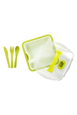 Take Away Lunch box compartimentée avec couverts - vert