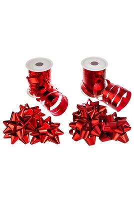 Féérie Lights&christmas Kit bolduc 8 pièces - rouge