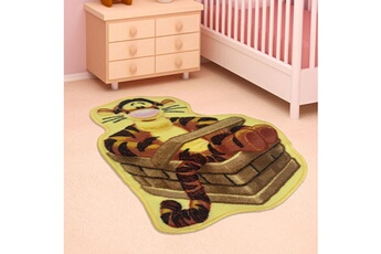 Tapis enfant Winnie Tapis chambre shaped tigrou orange 50 x 80 cm tapis enfant et disney par winnie
