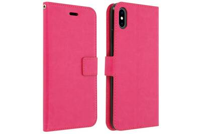 coque iphone xs portefeuille rose