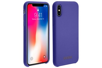 Coque iPhone Coque iphone x   xs bumper protection rigide antichoc guess -  violet Guess 89aba00a4160d