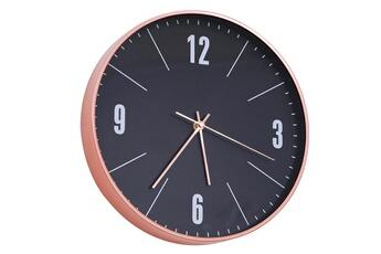 Horloges Horloge murale design contemporain pendule silencieuse ø 30 x 5 cm  3 aiguilles 4 chiffres 6acd8c3df6bb