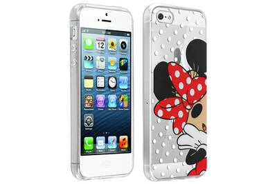Coque iphone 55sse design minniepois silicone ultra fine disney transparent