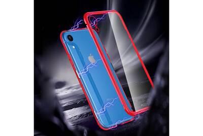 coque magnetique iphone xr bleue