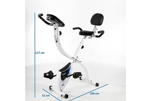 Vélo d'appartement pliable axel fi022. Roue d'inertie de 8 kg. Écran lcd
