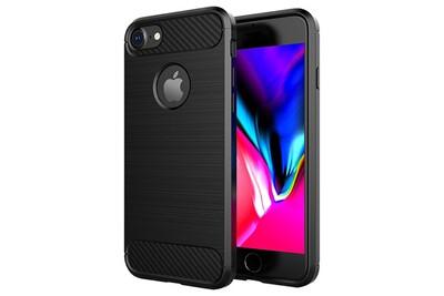 Cabling® coque compatible avec iphone 6/6s, silicone coque compatible avec iphone 6/6s housse fibre de carbone etui case - noir (4,7
