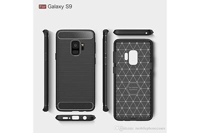 Cabling® coque samsung galaxy s9,ultra fine flexible silicone coque pour samsung galaxy s9 5,8 pouces housse fibre de carbone etui case - noir