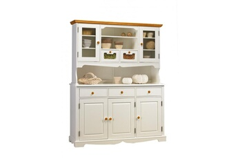 Bibliothèque Buffet vaisselier blanc et miel 5 portes Beaux Meubles Pas  Chers 1e09ab44b493