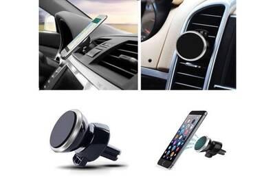 cute cheap order online new release Support voiture magnetique pour wiko view aimant noir ventilateur universel  360 rotatif