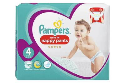 Couches Pampers Pampers Couches Active Fit Pants Taille 4 Geant 9