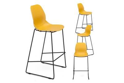 Bar Jaune Design Sugar 3Lot Haute Chaise 4 De Nnm8w0