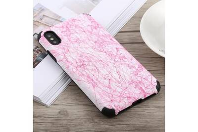 coque iphone xs marbre rose