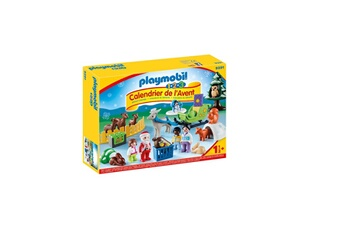 Playmobil PLAYMOBIL 9391 playmobil calendrier avent 1.2.3 'p?re no?l animaux for?t 0819