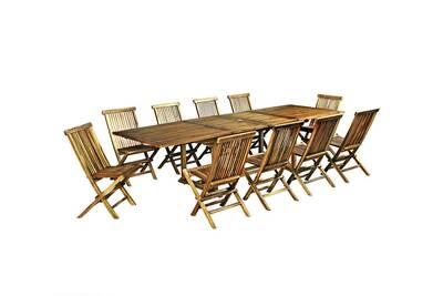 Ensemble table et chaise de jardin Wood-en-stock Salon de jardin en ...