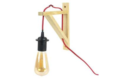Lampe Suspension Naturel Câble Murale Bois Rouge iuOPXwkZT