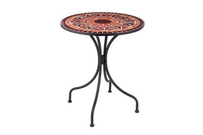 Salon de jardin Maisonetstyles Table ronde 61x61x71 cm en verre et ...