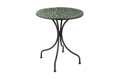 Salon de jardin Maisonetstyles Table ronde 61x61x71 cm en verre ...