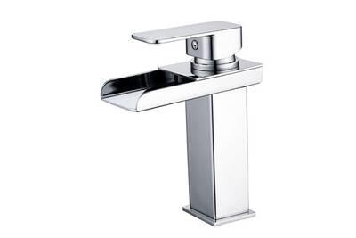 Robinet salle de bain Homelody Mitigeur lavabo cascade bas chromé ...