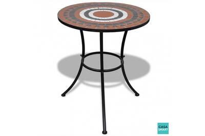 Table ronde en terre cuite mosaïque cs415341