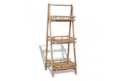 Étagère pour plantes en bambou 3 étages cs414931