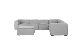 Salon de jardin Ensemble de jardin en tissu gris canapé fauteuil ottoman  arezzo ii Beliani d6ba01b6c796