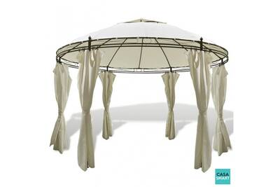Tonnelle, pergola Casasmart Tente de jardin ronde avec rideaux ...