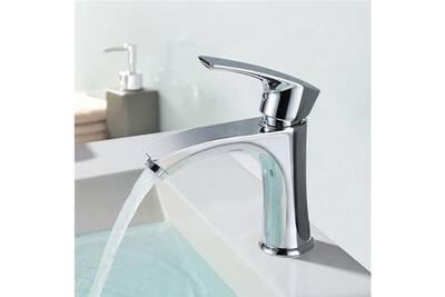 Robinet salle de bain Homelody Mitiguer lavabo chromé en laiton ...