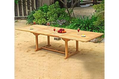 Table de jardin Wood-en-stock Table de jardin xxl en teck brut ...