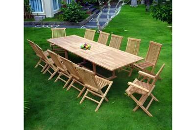 Ensemble table et chaise de jardin Wood-en-stock Salon en teck pour ...