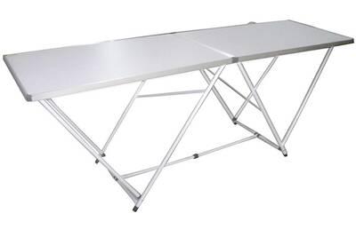 Table pliante pour jardin avec pieds en fer vernis époxy et plateau en mdf  - dim : h 74 x l 200 x p 60 cm