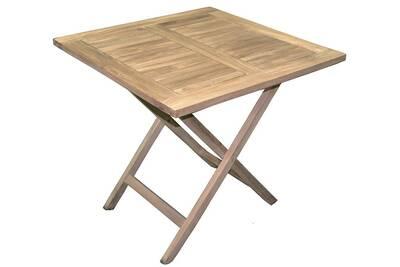 Table de jardin Pegane Table de jardin pliante forme carrée en bois ...