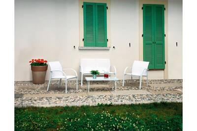 Salon de jardin Pegane Salon jardin de canapé + 2 fauteuils + 1 ...