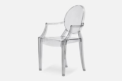 Transparentes Lot Empilables De Chaises 4 Crystal OiZTukXP