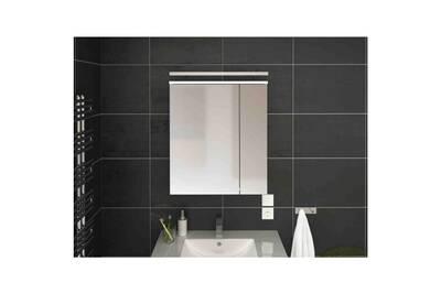 Armoire à pharmacie salle de bains avec miroir 60 cm blanche