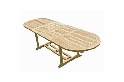 Table de jardin Ma Maison Mes Tendances Table de jardin ovale en ...