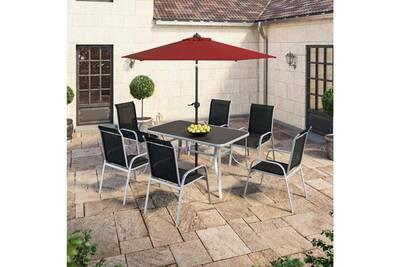 Salon de jardin Ims Garden Table de jardin 150 cm + 6 fauteuils ...