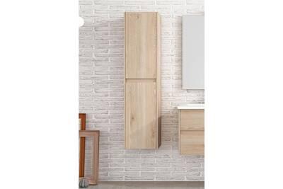 Meuble salle de bain Mennza Colonne suspendue palma 2 portes bois ...