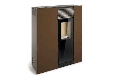 Poele A Granules Compact De Couloir Genesis 6kw Marron Vintage