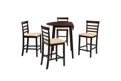 Meubles Jeu Pcs De Massif Marron Categorie Manama 5 Table Et Foncé Ensembles Bois Chaise OkZXiuP