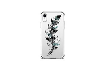 coque iphone xr avec des plumes