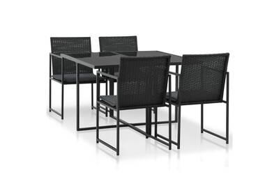 Meubles de jardin selection tunis mobilier de jardin 9 pcs résine tressée  noir