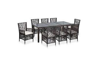 Ensemble table et chaise de jardin Vidaxl Mobilier de jardin 9 pcs ...