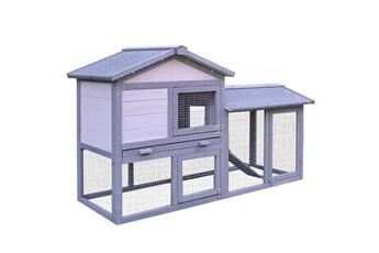 Pièges à rongeur Clapier cage à lapins rongeurs 2 niveaux 3 portes  verrouillables tiroir à déjection 82232eead449