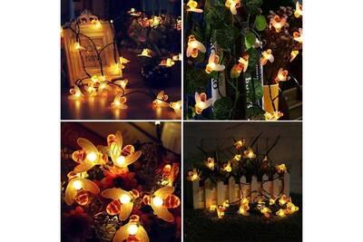 Fée Solaire A Abeille Lumière Hd4 8 20 Led Blanc Lampe Jardin La Chaîne De Extérieur Décoratif M Chaud 8OXZNkn0wP