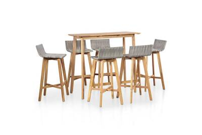 Ultra Ensemble table et chaise de jardin Vidaxl Ensemble de bar d LB-74